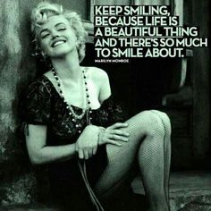 Keep smiling, because life is a beautiful thing and there's so much to smile about. / #FullahSugah #GettingInspired #Quotes