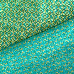 Gold und grün Bridal reversibel Seide Brokatstoff von NeaFabrics