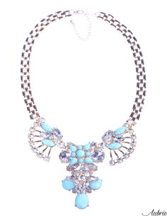 #aubrie #aubriepl #aubrie_necklaces #necklaces #necklace #jewelery #accessories #laryn #pastel #colorful #shine #crystal #blue