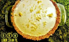 Delicious and Mostly Raw Lemon Cream Pie [Gluten-Free, Vegan] This pie is delicious, deceptively healthy and luxurious and I felt totally great after eating it. Make it for your next holiday celebration or just make it for no reason at all! Be sure to have a few friends over as this pie will serve a crowd. A very happy crowd.