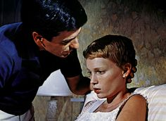 Mia Farrow in Rosemary's Baby. One of the few scary movies I could watch as a kid. Her clothes, hair and skin were so beautifully distracting.