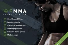 WP MMA - Gym & Fitness WordPress by Klever media on @creativemarket