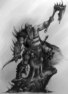 m Barbarian med Armor Cloak Battle Axe Swords Wilderness Minion of the Reaper by AlexBoca deviantART Tatto Viking, Viking Warrior Tattoos, Fantasy Warrior, Dark Fantasy Art, War Tattoo, Beautiful Dark Art, Nordic Tattoo, Star Wars Light Saber, Fantasy Beasts