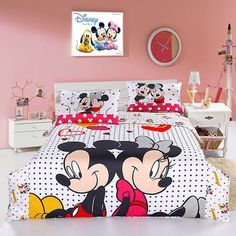 30 New Mickey Mouse Bedroom Decor . Decor Mickey and Minnie Mouse Bedding Queen Size Minnie Baby Mickey Mouse, Mickey Mouse Bett, Minnie Mouse Bedding, Mickey Mouse Bedroom, Mickey E Minie, Disney Bedding, Minne, Twin Bedroom Sets, Twin Comforter Sets