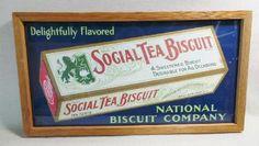 Vintage Trolley National Biscuit Sign Social Tea