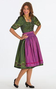 Chiemseer Dirndl & Tracht Online Shop-Kleid Leermoos, mit Schürze