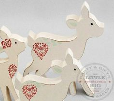 Set of three hand crafted wooden deer | Childrens Toys | Little Big People | The Little Big Company Pty Ltdparty, glass bottles, swizzle sticks, beverage dispenser, birthday, gift, rock candy