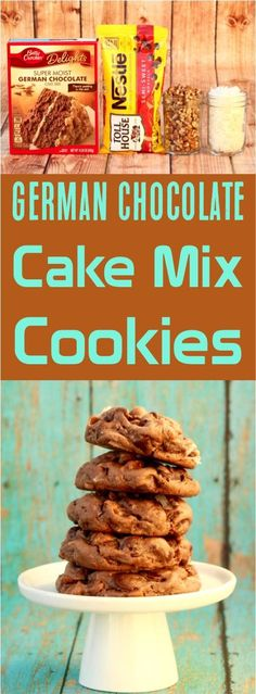 German Chocolate Cake Mix Recipe!  This easy cookie recipe is sure to be a family favorite!