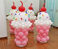 from { { FeedTitle} }{ { EntryUrl} } Candy Theme Birthday Party, Candy Party, 2nd Birthday Parties, Balloon Decorations Party, Birthday Party Decorations, Candy Land Decorations, Creations, Ice Cream Balloons, Balloon Arch
