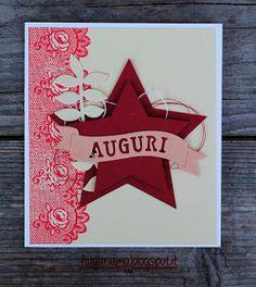 Auguriamo!: Una stella per la card di Natale#Natale #stella #Christmas #star #card #biglietto #scrapbooking