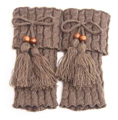 Fashion Winter Tassel Leg Warmers for Women Knit Boot Socks Twist Crochet Boot Cuffs Ladies Legwarmers Boot Toppers Gaiters Crochet Boot Cuff Pattern, Knitted Boot Cuffs, Crochet Boots, Knitted Hats, Knit Crochet, Crochet Mittens, Mittens Pattern, Leg Warmers For Women, Crochet Leg Warmers