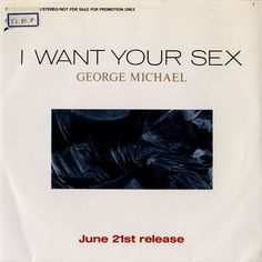 "For Sale - George Michael I Want Your Sex Japan Promo  7"" vinyl single (7 inch record) - See this and 250,000 other rare & vintage vinyl records, singles, LPs & CDs at http://eil.com"