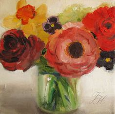 Posy Open Edition Print by janethillstudio on Etsy, $29.00 - love her work - the originals are ALWAYS sold by the time I open my emails!