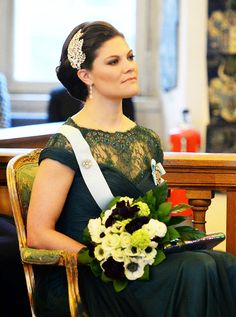royalwatcher:  Crown Princess Victoria attended the Royal Academy's annual celebration, March 20, 2015