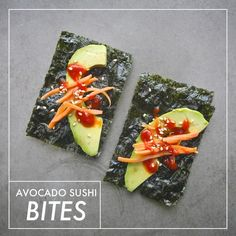 Avocado Sushi Bites // shutterbean