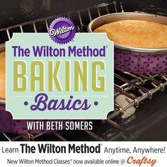 The Wilton Method®: Baking Basics Online Class Wilton Decorating Tips, Cake Decorating Frosting, Cake Decorating Classes, Cake Decorating Techniques, Cookie Decorating, Wilton Cakes, Cupcake Cakes, Cupcakes, Baking Basics