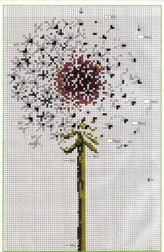dandelion cross stitch pattern