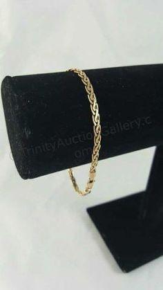 14k Gold Ladies Spiga Link Bracelet