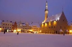 Winter in Tallinn,  Estonia