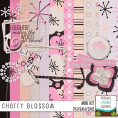 free scrapbook, paper embelish, digital scrapbooking, printabl paper, digit techniqu, digit paper, kit feebi, cherry blossoms, freebi kit
