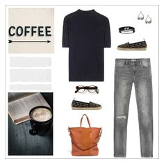 """Coffee & a Book - Monday Solved"" by summitsp ❤ liked on Polyvore featuring Zara, Wood Wood, Madewell, Yves Saint Laurent, women's clothing, women, female, woman, misses and juniors"