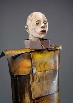 Joe Brubaker was born in Lebanon, Missouri in Ten years later Joe's family moved to Southern Californ. Sculpture Clay, Sculpture Ideas, Small Sculptures, Junk Art, Contemporary Sculpture, Assemblage Art, Tile Art, Statue, Pottery Art