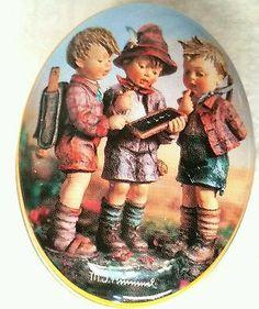 M.J. Hummel Tin Vintage Kids Painted Metal Pills Trinket Spice Jewelry Box RARE