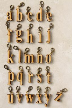 wood letter charms
