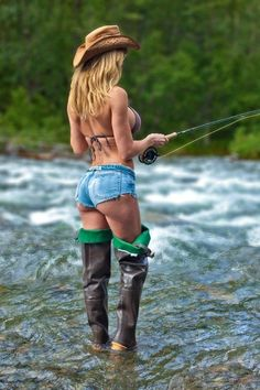 Ready for fishing....Another one showed how to try to get some trout in the summer sun.