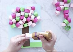 How to Make a 3D Spring Paper Tree Craft   I Heart Crafty Things
