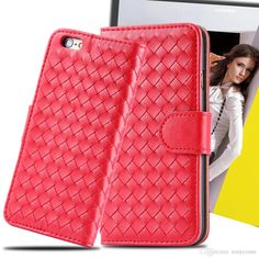 Iphone 6 Plus 6plus 5S Cases Fashion Woven Weave Knit Wallet Leather Photo Frame Card Slot Stand Purse Leather Pouch Case Phone Bag from Easycome,$4.73 | DHgate.com