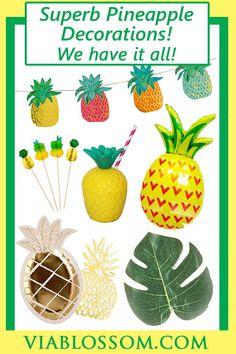 Aloha Summer Bright Pineapple Beach Hawaiian Party Tableware Paper Napkins