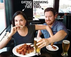 Sometimes, all that's needed to create a funny pregnancy announcement is a play on reality. Moms poking fun at those oh-so-common pregnancy cravings and dads celebrating the fact that they get to drink for two wins every single time. Creative Baby Announcements, Second Pregnancy Announcements, Creative Pregnancy Announcement, Pregnancy Photos, Pregnancy Tips, Pregnancy Eating, Pregnancy Workout, Maternity Photos, Foto Baby