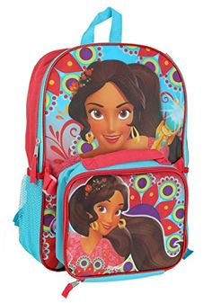 Princess Elena Backpack w Lunch Kit Standard tall x wide x deep Best Kids Backpacks, Princess Elena Of Avalor, Gypsy Costume, Monogram Sweatshirt, Canvas Backpack, Outdoor Woman, Velcro Straps, Animal Photography, Travel Style