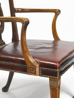A George III mahogany armchair possibly by Thomas Chippendale circa 1770