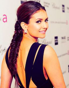 Nina Dobrev braid hair