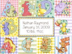 Dimensions Baby - Zoo Alphabet Baby Birth Record - Cross Stitch World