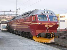 locomotief Di. 4 655 te Trondheim