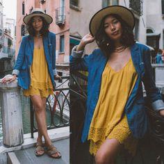 "lookbookdotnu: "" Sunny in Venice (by Stephanie Liu) """
