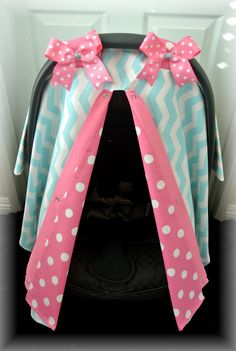 car seat canopy car seat cover chevron teal by JaydenandOlivia, $42.99