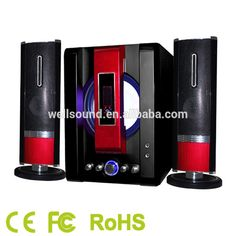 china supply home theatre 2.1speaker with good bass home theater speaker system with USB SD FM Function