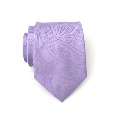 Lavender Tie. Necktie Lavender Purple Paisley Mens Tie With Matching Pocket Square Option (19.95 USD) by TieObsessed