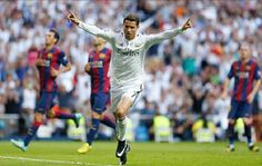 Cristiano Ronaldo's opener for Real Madrid in the defeat of Granada on Saturday saw him break Isidro Langara's record for the most goals scored in the first 10 La Liga games of the season. Ronaldo Real Madrid, World Best Football Player, Good Soccer Players, Barcelona, Black Football Boots, Cristiano Ronaldo Quotes, Santiago Bernabeu, Best Club, European Championships