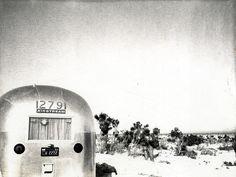 Airstream in the Desert, 1970 by High Steel Heels, via Flickr