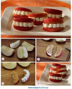Apple, Peanut Butter & Marshmallow Smiles – Healthy Snack Recipe » The Homestead Survival