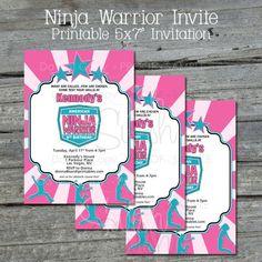 American Ninja Warrior Birthday Invitation   by SwishPrintables