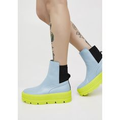 377b0c8371e9af PUMA Neon FENTY PUMA By Rihanna Chelsea Sneaker Boots ( 220) ❤ liked on  Polyvore