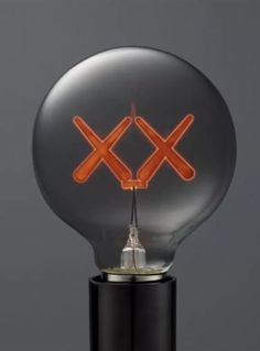 #art KAWS Original Fake X Standard Hotel Light Bulb RED/PINK Very Rare  Please
