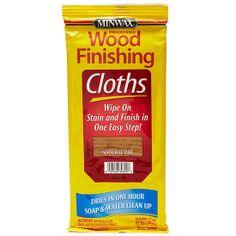 Best New Wood Care - Minwax Wood Finishing Cloths. How cool is this?