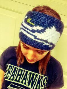 SEAHAWKS Knit Headband with Logo  Warm and by TheDarlingMerchant, $30.00